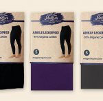 Organic Ankle Length Leggings - Eggplant