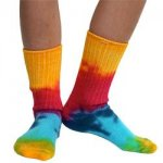 Cotton Crew Tie-Dye Socks