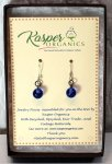 Vintage Blue Glass Earrings