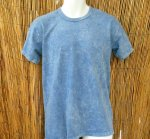 Basic Organic Tee in Blue Stone