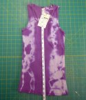 Kids Organic Cotton RIB TANK - Purple Tie-Dye - Size 10