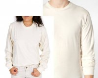 Fine Jersey Long Sleeve Tee in Natural