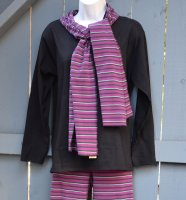 Organic Striped Straight Scarf
