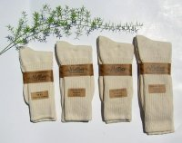 99.8% Organic Cotton Allergy Crew Socks