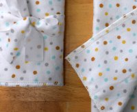 Polkadot Flannel Burp Cloth