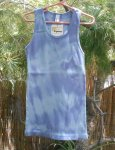 Kids Organic Cotton RIB TANK - Blue Tie-Dye - Size 12