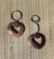 Coconut Shell Heart Key Chain
