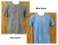 Organic T-Shirt in Gray Stone or Blue Stone