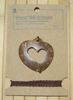 Coconut Shell Heart Gift Accessory
