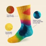 Youth Tie-Dye Crew Socks