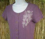 Cottonfield Embroidery Top in Grape