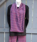Organic Striped Circle Scarf