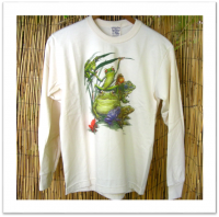 "Youth Long Sleeve ""Frog Party\"" Printed Tee"