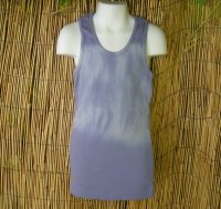 Kids Organic Cotton RIB TANK - Blue Tie-Dye - Size 10