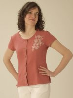Cottonfield Embroidery Top in Jujube