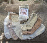 Organic Threads Short Top Crew Socks (3-pack) Colorgrown Colors