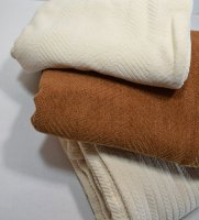Queen Organic Cotton Chenille Blankets Natural & Brown