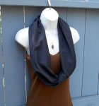 Black Organic Cotton Circle Scarf