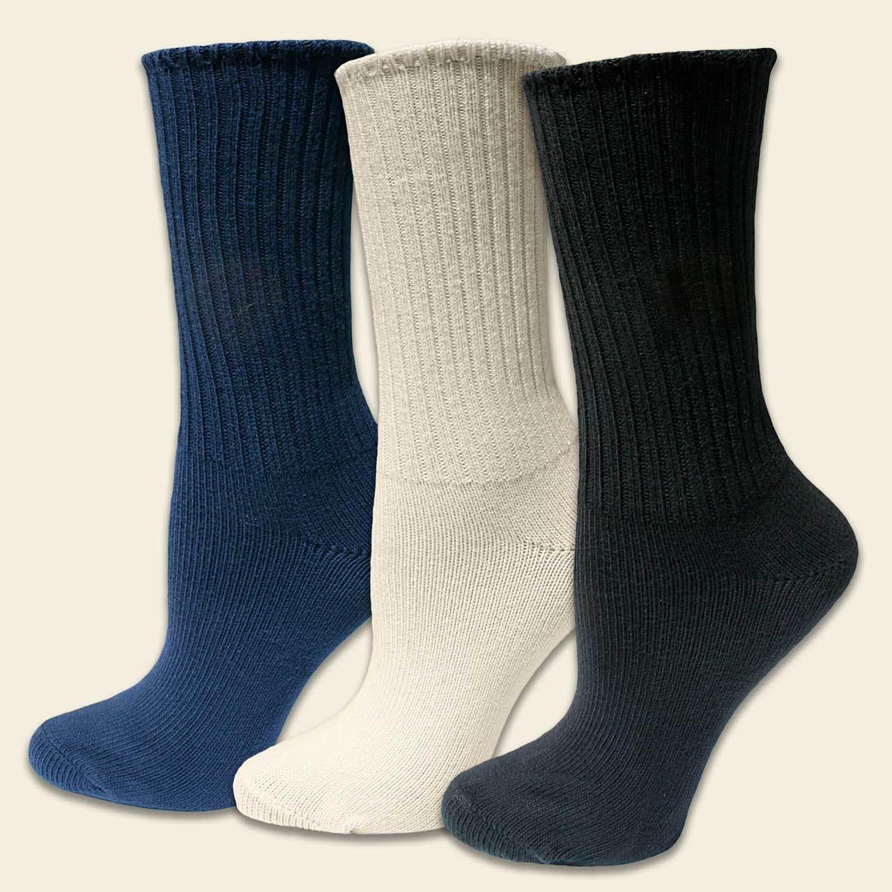 Maggie's Classic Crew Socks Tri-Color 3-Pack [2195triN] - $21 95