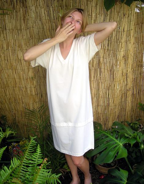 Cloud Soft V-Neck Night Shirt Organic Cotton Night Shirt  3495VNS ... bb9ce65bf